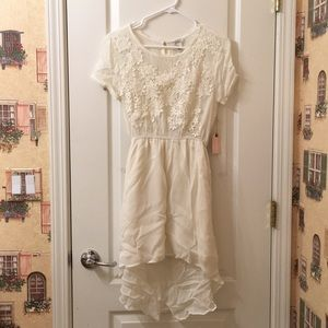 NWT Forever 21 White Lace Crochet High-Low Dress